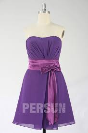 robe violette mariage robe demoiselle dhonneur ruchée sans bretelle en satin longue aux