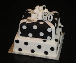 60 year birthday ideas black white polka dot cake for birthday let s get this party