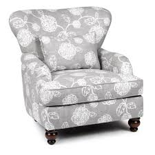 Floral Accent Chair Slate Gray Floral Accent Chair Adele Rc Willey Furniture Store
