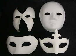plain mask unpainted plain blank version paper pulp mask masquerade