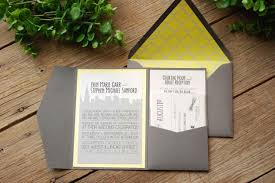 wedding invitations chicago featured wedding invitation design chic grey yellow