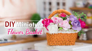 flower basket diy miniature flower basket tutorial nendoroid doll
