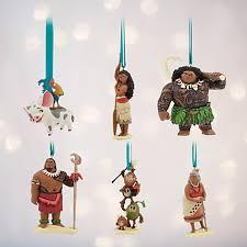 disney moana ornament set 6 character set