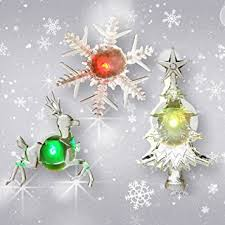 Reindeer Christmas Decorations Lights by Amazon Com Holiday Window Decorations Assorted Set Of 3