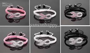 crystal pink bracelet images 2018 wholesale crystal pink ribbon breast cancer awareness jpg