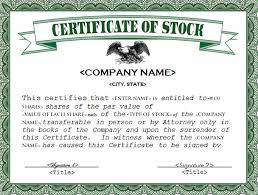 21 stock certificate templates free sample example format