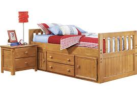 rooms to go twin beds creekside taffy 3 pc twin captain s bed twin captains bed twins