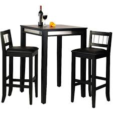 Pub Dining Room Set by Home Styles Manhattan Black Pub Table Set With Stainless Steel