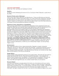 Professional Profile Resume Examples by Professional Profile Template Business Proposal Document Template