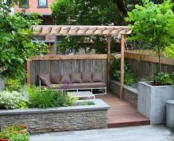 Nyc Backyard Ideas Stone Pergola With New York Garden Design Deck Traditional And