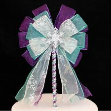 snowflake cake topper wedding bow cake toppers package bows