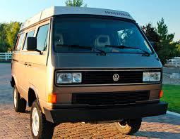volkswagen vanagon blue 1986 vw vanagon syncro westfalia camper w 14k on engine 40k in