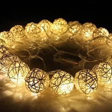 warm white string fairy lights 20 led 250cm warm white rattan ball string fairy lights for