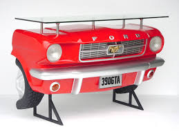ford mustang car bar shelf