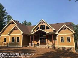 Sloped Lot House Plans Rustic Escape Home Plan 92350mx Architectural Designs House