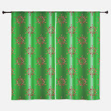 Snowflake Curtains Christmas Christmas Pattern Snowflake Window Curtains U0026 Drapes Christmas