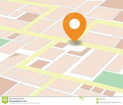 Gps Map Vector City Map With Gps Icons Illustration Illustration 53897591