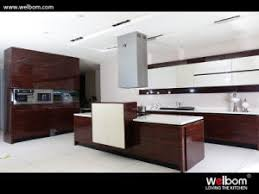 china welbom latest design lacquer kitchen units with engineered