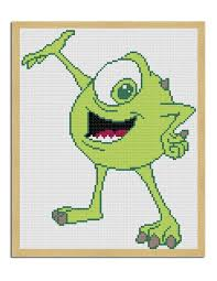 34 monsters images crossstitch cross