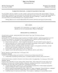Marketing Resume Samples by Marketing Assistant Resume Sample Free Resume Example And