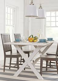 rectangular pine dining table craftman casual dining table design with four guests handcrafted
