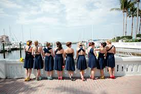 navy blue short bridesmaid dress
