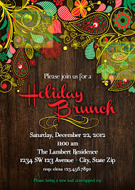 christmas brunch invitations paisley wood brunch paisley invitation