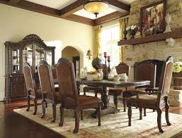 north shore double pedestal extendable dining room set from ashley 1697918