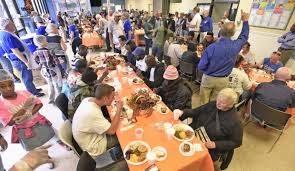 city rescue mission celebrates thanksgiving with free meal for