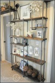 Build A Wood Shelving Unit by Build A Budget Friendly Industrial Shelf Using Pvc Pipe