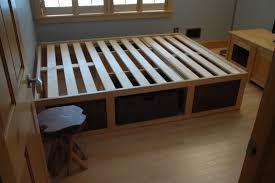 Build Bed Frame With Storage Diy Fresh Diy Bed Platform With Storage Home Design Popular