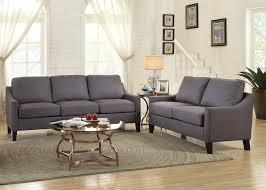 Sofa And Loveseat Sets Zapata Gray Linen 2pc Nailhead Trim Sofa U0026 Loveseat Set