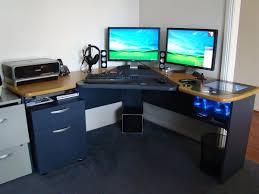 Small Desk Computer New Dual Monitor Desk Setup Youtube Dual Monitor Computer Desks