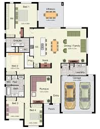 two family floor plans the hume 263 is a spacious family home with four bedrooms and two