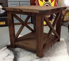 rustic end tables cheap ana white our rustic end table diy projects