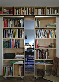 bookcase with doors home office contemporary with bay window black