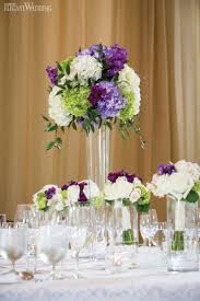 decoration theme paris purple and green floral centrepieces wedding table setting and