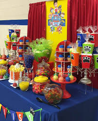 paw patrol candy table ideas birthday party ideas paw patrol mariannemitchell me