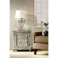 Cabinet End Table Hillsdale Furniture Havana Dark Graywash Storage Cabinet 5811 860