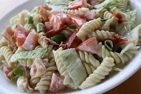 cold pasta dish blt pasta salad recipe blogchef net