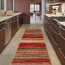 Striped Kitchen Rug Runner Diagona Designs Contemporary Wavy Stripes Design Non