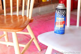 Spray Paint Supplies - furniture makeover spray painting wood chairs in my own style