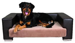 canapé pour chien grande taille canape de luxe paolo brun creme panier lit couchage corbeilles