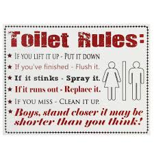 rules for the bathroom