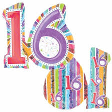 number balloons delivered 16 th birthday balloons delivered sixteen number shaped balloon gift