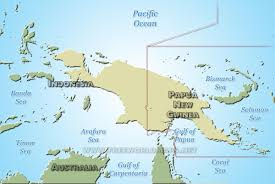 Indonesia On World Map New Guinea Map