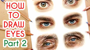 drawing eyes part 2 coloured pencil drawing tutorial episode 7