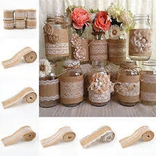 burlap decorations for wedding fabric wedding table decorations ebay