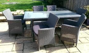 6 Seat Patio Table And Chairs 6 Seater Wooden Garden Furniture Outdoor Patio Table Chairs And