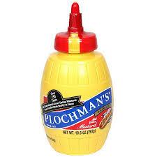 plochman s mustard plochman s premium mild yellow mustard 10 5 oz pack of 24